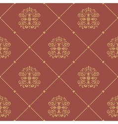 Pattern seamless baroque style vector image vector image