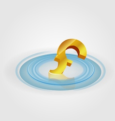 Pound ripple currency vector