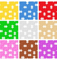 seamless puzzle backgrounds vector image
