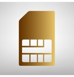 Sim card sign Flat style icon vector image