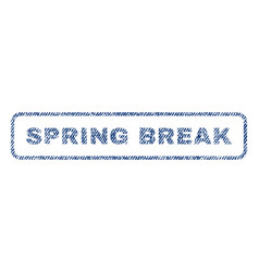 Spring break textile stamp vector