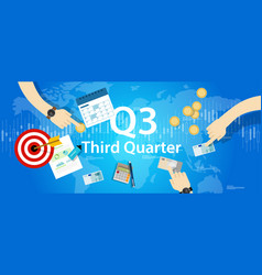 third quarter business report target corporate vector image vector image