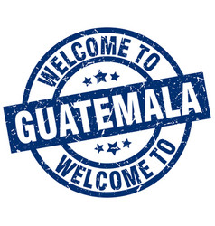 Welcome to guatemala blue stamp vector