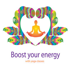 yoga concept design template vector image