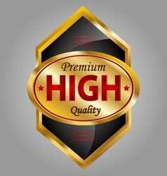 High quality product label vector image