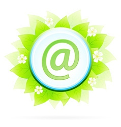 Icon button internet and e-mail vector