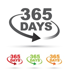 365 days set vector image