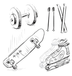 Sport stuff icon set vector