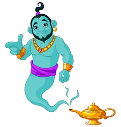 Genie granting the wish vector