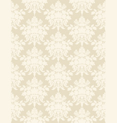 beige retro seamless wallpaper background vector image