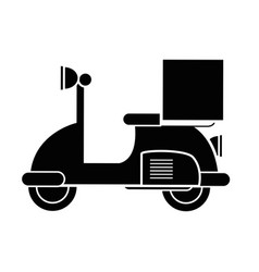 Contour delivery motorcycle transportation service vector
