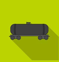 Railway tank caroil single icon in flat style vector