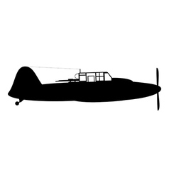 Old military aircraft vector