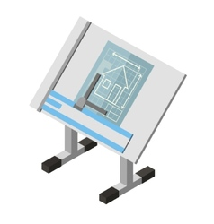 Projecting engineer table house architecture vector
