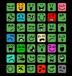 Big set of cartoon facial expressions vector