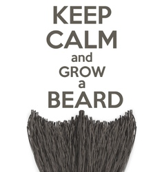 Keep calm and grow a beard vector
