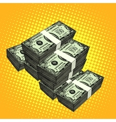 Money bundle of dollars vector