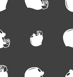 Football helmet icon sign seamless pattern on a vector