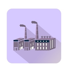 Large chemical plant icon flat style vector