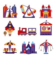 Amusement Park Flat Design vector image