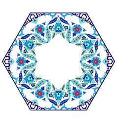 Antique ottoman turkish pattern design eighty six vector