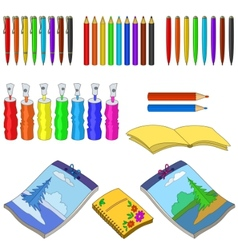 art tools set vector image