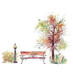 Autumn background with splash tree vector image