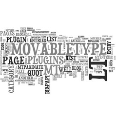 best movabletype plugins text word cloud concept vector image vector image