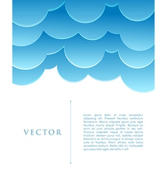 Blue abstract clouds vector image