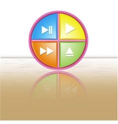 Button icon reflection vector