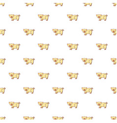 Cute pig pattern seamless vector