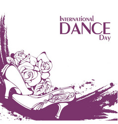 dance day ballroom standard shoes vector image vector image