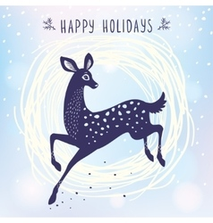 Deer cute stylized vector image vector image