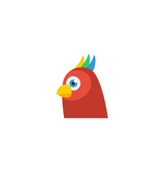 flat icon parrot element of vector image vector image