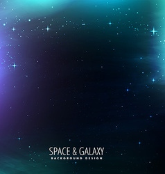 Galaxy with stars vector