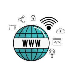 Global wifi internet connect service vector
