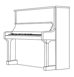 Isolated piano outline vector