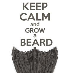 Keep calm and grow a beard vector