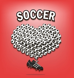 Love of soccer vector