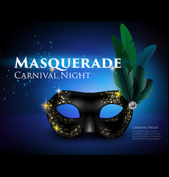 Masquerade mask background vector