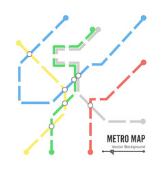metro map subway map design template vector image vector image