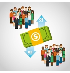 money infographic vector image vector image