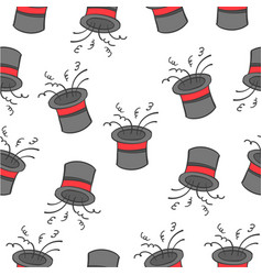 Pattern hat circus design collection vector