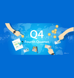Q4 fourth quarter business report target corporate vector