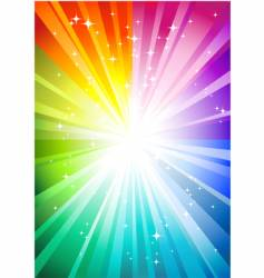 rainbow sunburst vector image