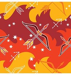 Sagittarius - Zodiac seamless pattern vector image vector image