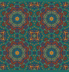 Seamless doodle background ethnic motives zentagl vector