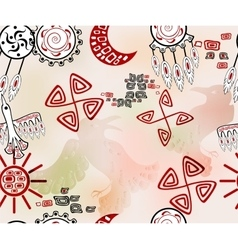 Seamless pattern with ethnic Indian elements vector image