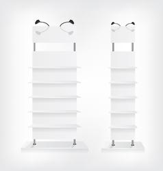 Shop shelves white vector image vector image