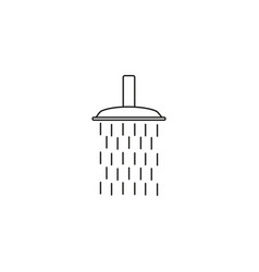 shower line icon vector image vector image